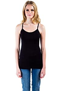 Adjustable Straps Camisole in Black