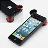 NEEWER® Red 180° Fish Eye Lens+Wide Angle Lens+Macro Lens 3-in-1 Kit For Apple IPhone 5