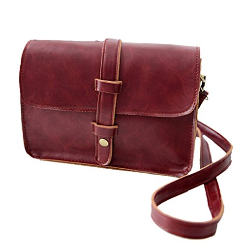 Womens PU Leather Messenger Crossbody Satchel Hand Shoulder Bag