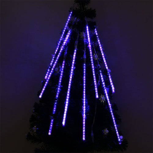 Gbb 2X Christmas Light 80Cm 240 Led In Each 8 Tube 110V Holiday Meteor Shower Rain Lights Ideal For Indoor Outdoor Gardens Homes Xmas Christmas Party Weddings Waterproof String Meet Rohs - Xmas Sale!Get Them Now Lowest Priced Of Season!