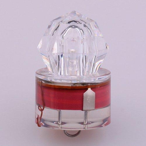 BestDealUSA Red LED Deep Sea Underwater Diamond Fishing Flashing Light Bait Lure Strobe
