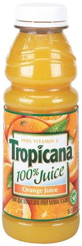 Tropicana Orange Juice, 15.2-Ounce Bottles (Pack of 12)