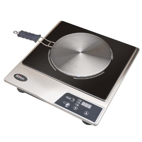 Max Burton 6050 Induction Cooktop, Stainless Steel and Black