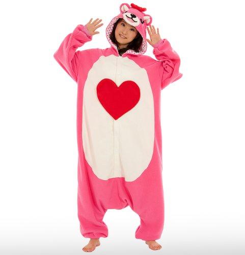 Japan Sazac Genuine Kigurumi Pink Bear Koakkuma Fancy Bear Dress Cosplay Pajamas front-378093