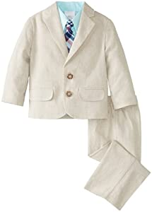 Nautica Boys 2-7 Herringbone Linen Suit Set by Nautica