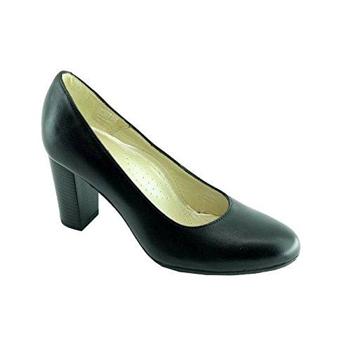 Escarpins d'Hotessesescarpin - Scarpe col tacco Donna , Nero (C-Noir), 40,5