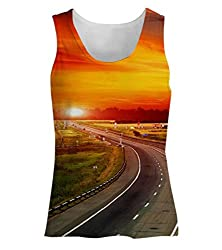 Snoogg The Way To Sunset Womens Tunic Casual Beach Fitness Vests Tank Tops Sleeveless T shirts