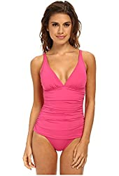 Tommy Bahama Women's Coral One Piece Swimsuit 8