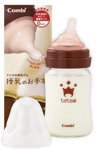 コンビ テテオ teteo 授乳のお手本 哺乳びん耐熱ガラス製 160mL SSサイズ乳首付