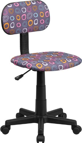 Flash Furniture Bt-Fl-Gg Multi-Colored Pattern Printed Computer Chair, Pink/White/Orange/Turquoise