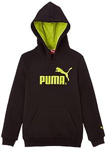 Puma Sweat à capuche Garçon Noir FR : 8 ans (Taille Fabricant : 128)
