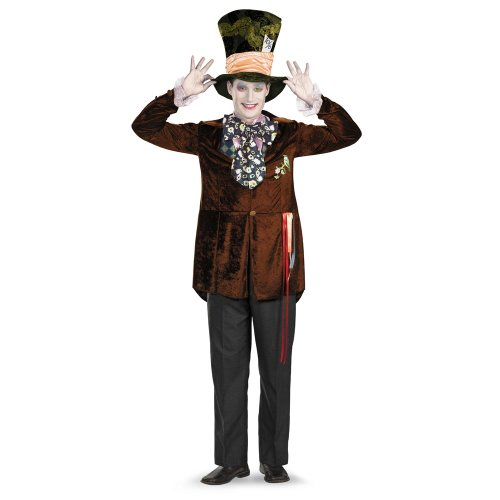 Mad Hatter Deluxe Costume Madhatter Adult Deluxe Costume 13547