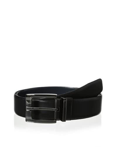 J.Campbell Los Angeles Men's Reversible Gunmetal Buckle Belt