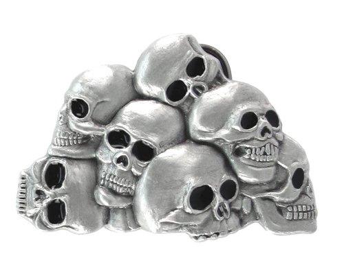 Pewter Belt Buckle - Skulls - Black - Pewter Belt Buckle