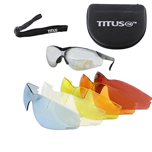 Titus Premium G Series Multi-Lens Safety Glasses Bundle - Professional Range Glasses, 9 Piece Kit (Ga Bulldogs Sunglasses compare prices)
