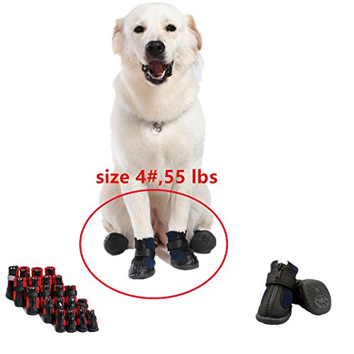 Artikelbild: Namsan Hund Schuhe für Hunde, Wasserdicht und Anti Skid & Snow Hund Winterstiefel für mittlere Hund Blau #3-2.1'X1.8'(LxB)