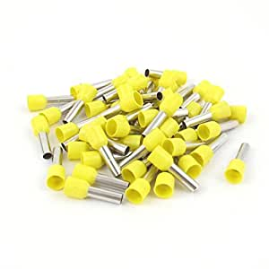 50 x Wire Crimp Cord End Terminal Insulated Ferrule Yellow E6012 10AWG