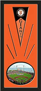 San Francisco Giants Wool Felt Mini Pennant & AT& T Park Photo - Framed With... by Art and More, Davenport, IA