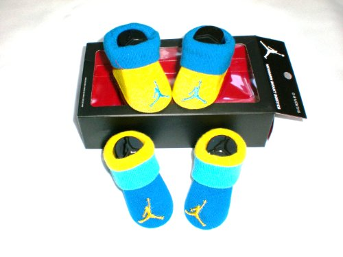 Nike Air Jordan Newborn Baby Booties, Yellow, Size 0-6 Months
