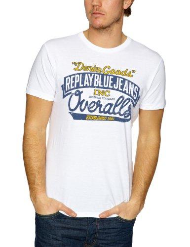 Replay M6054 Printed Men's T-Shirt White Large