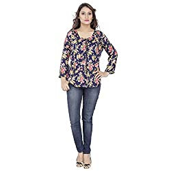 Mister Lady Beautiful Multi Colour Floral Print Free Fall Top Tunic