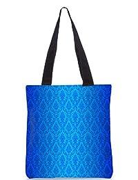 Snoogg Abstract Blue Pattern Design Digitally Printed Utility Tote Bag Handbag Made Of Poly Canvas