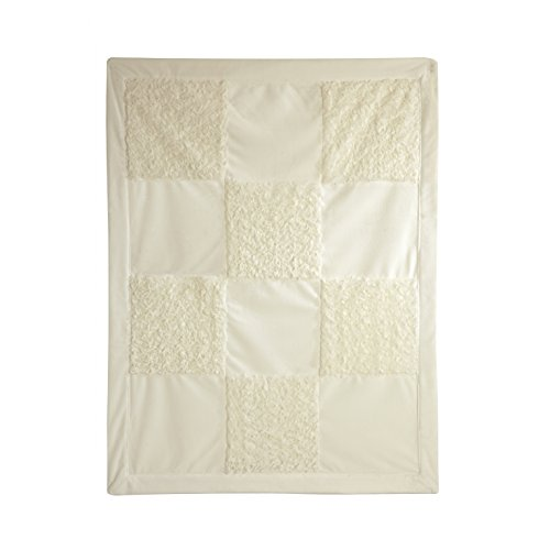 Little Me Ivory Patchwork Blanket, Ivory, Infant