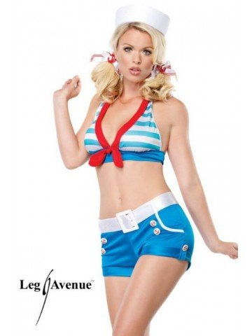 Sexy Sailor Pin Up Costume - X-Small - Dress Size 0-2