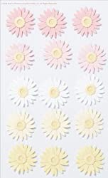 Martha Stewart Crafts Stickers, Dimensional Pink and Yellow Daisy