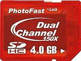 PhotoFast デュアルチャンネル Dual Core搭載 SDHC 4GB 【PF-DDRSDHC4GB】