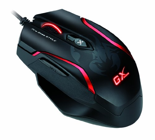 Genius GX-Gaming Maurus X Mouse for FPS Gaming with DPS Range 800 to 4000 and Built-In Metal Weight (GX-Gaming Maurus X)