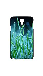 Leaves Texture Printed Back Cover/Case For Samsung Galaxy Note 3 Neo