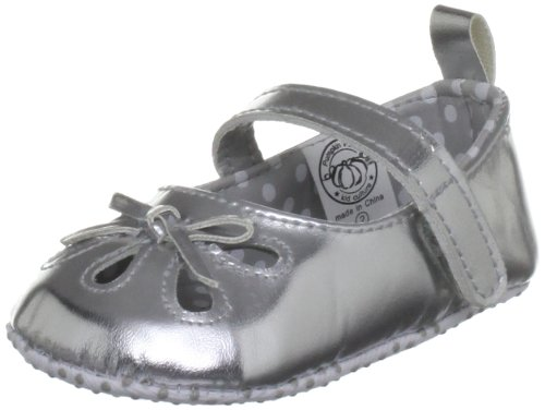 Pumpkin Patch Kids Silver Cut Out Mary Janes Baby Shoe