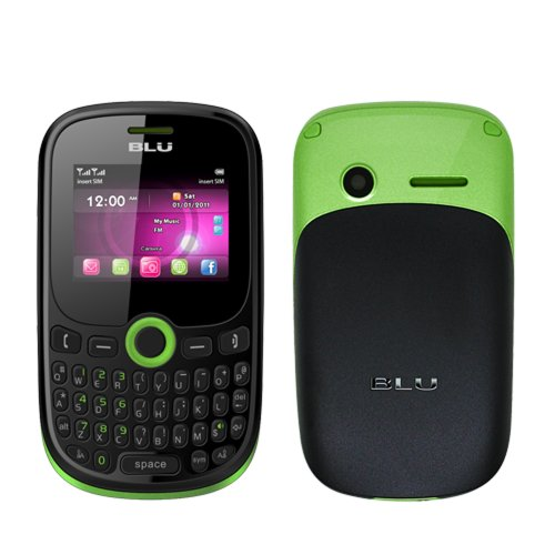 BLU Q53 Green Samba JR Unlocked Quad-Band Dual SIM Phone with QWERTY Keypad, Camera and MP3 Player - US Warranty picture