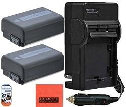 2 NP-FW50 Batteries & Charger for Sony Alpha 7 A7R A3000 A5000 A6000 NEX-3 NEX-C3 NEX-F3K NEX5 NEX5K NEX5N NEX5T NEX6 NEX7 SLT-A33 A35 A37 A55 DSC-RX10/B Digital Camera