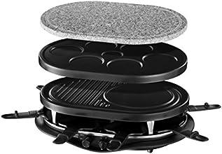 Russell Hobbs 21000-56 Fiesta - Multi raclette 8 sartenes, incluye placa de piedra, placa de metal con espacio amplio para crepes, placa para minicrepes