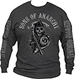 SONS OF ANARCHY CHARCOAL MENS LONG SLEEVES TEE (Medium)