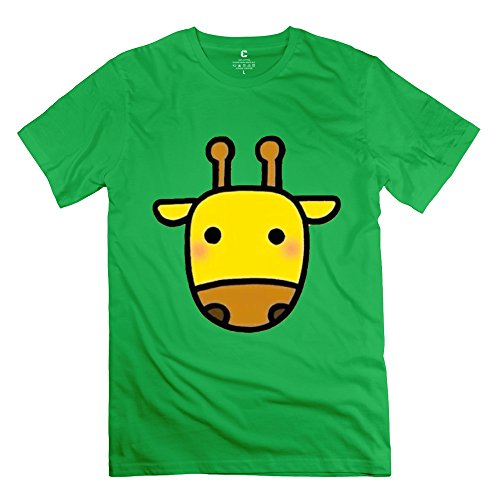cute-giraffe-head-mens-crew-neck-t-shirt-forestgreen-x-large