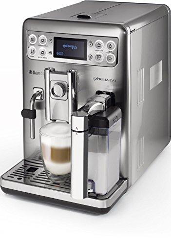 Saeco HD8858/01 Exprelia Kaffeevollautomat, AquaClean, integrierte Milchkaraffe, silber thumbnail
