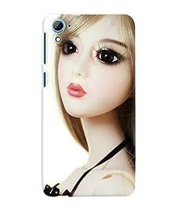 Fuson 3D Printed Cute Doll Designer Back Case Cover for HTC Desire 826 - D737