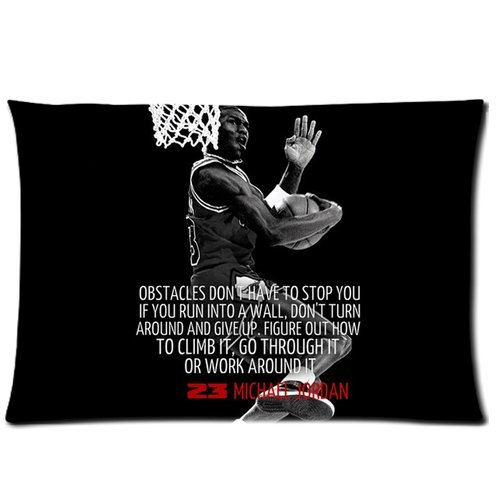 "Hot Selling Air Michael Jordan NBA Chicago Bulls Slam Dunk Standard Zippered Pillowcase Cover 20""x30"" inch (50X76cm)-Two Sides at Amazon.com"
