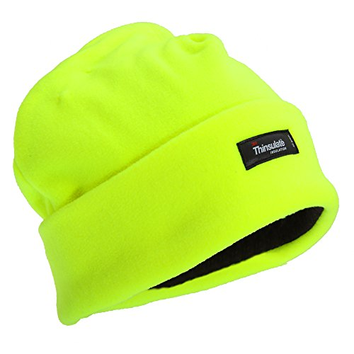 flosor-herren-hi-vis-thinsulate-thermo-fleece-wintermutze-beanie-one-size-neongelb