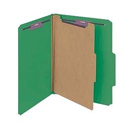 Smead Pressboard Classification File Folder with SafeSHIELD Fasteners, 1 Divider, 2\