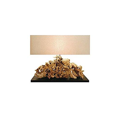Lume da tavolo in legno naturale da camera salotto lampada 49x80 cm