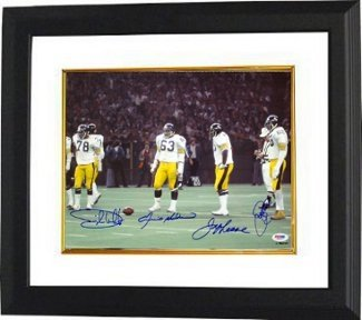LC Greenwood Autographed/Hand Signed Pittsburgh Steelers 11x14 Photo Custom Framed 4 sig- PSA Hologr at Amazon.com