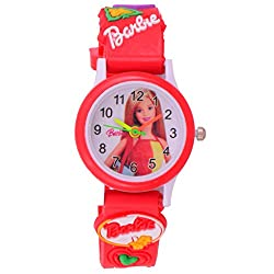 SS TRADERS- BARBIE ANALOG WATCH FOR GIRLS,GOOD GIFT ITEM FOR KIDS
