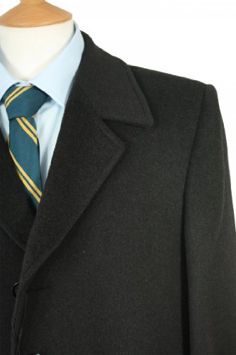 Men's Dundee Overcoat 42inch Chest, Charcoal 08