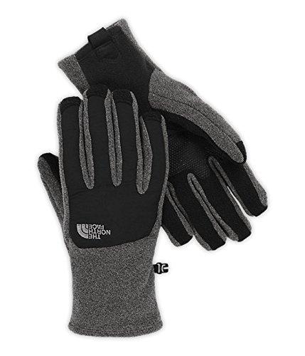 The North Face Denali Etip Glove - Men's Charcoal Grey Heather/TNF Black Medium