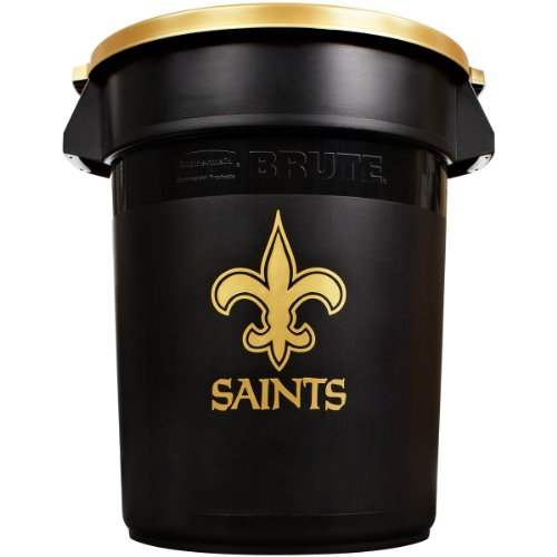 Rubbermaid Commercial Team Brute 32-Gallon Trash Can and Lid, New Orleans Saints at Sears.com