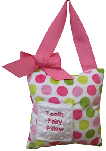 Caught Ya Lookin' Tooth Fairy Pillow, Watermelon Dot, Pink, Green/White
